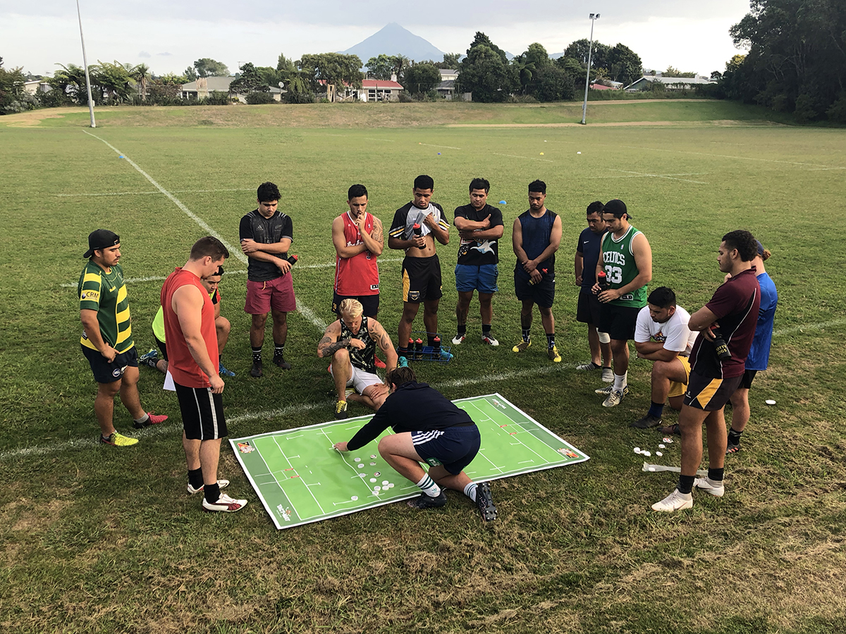 The TACT-MAT can be used on the field during training.